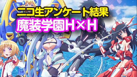 【魔装学園HxH】2話 ニコ生アンケ とても良かった65.9%「接続改装-HEART HYBRID-」