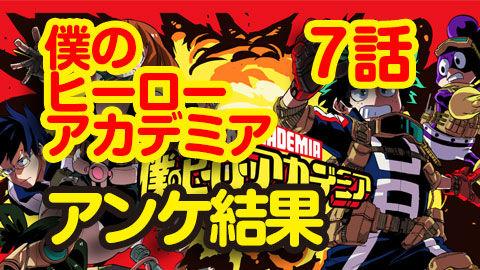 【僕のヒーローアカデミア】7話 ニコ生アンケ とても良かった94.8%「デクvsかっちゃん」