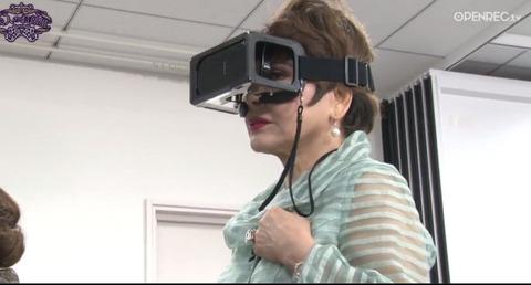 デヴィ夫人、VRゲームに「このゴーグル外しちゃいけませんの?」