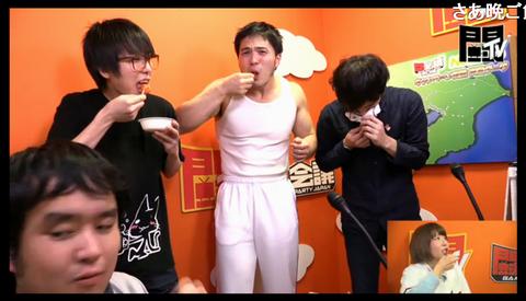 マッスル宮崎も悶絶! 実況者が食べたデス団子がヤバすぎて放送事故www