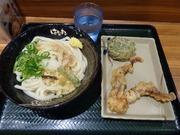 おろししょうゆ(中)+げそ天+10品野菜の豆腐天