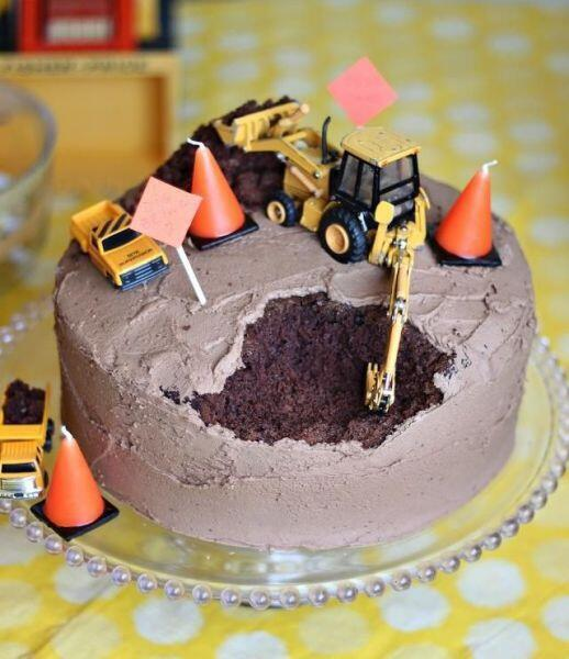 工事現場ケーキ
