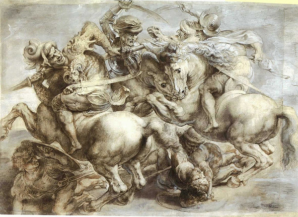 800px-Arezzo_anghiari_Battle_standard_leonardo_da_vinci_paint