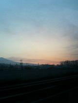 夜明け前。