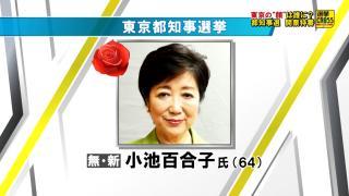【速報】小池百合子氏が初の東京都知事に