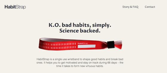 66日間をかけて習慣化を助ける『HabitStrap』