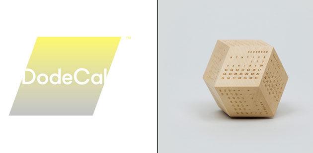 12面体で制作されるひと繋ぎのカレンダー「DodeCal」
