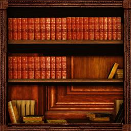 壁掛け本棚扉つき2