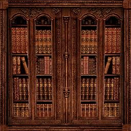 壁掛け本棚扉つき