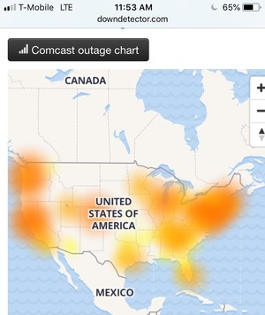comcast down