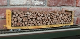 40' Bulkhead Flat Car UP w/ Pulpwood