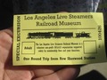 LA live steamers excursion ticket