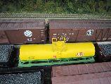 Dupont Chemical Tank Car in Detroit model railroad club