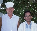 Tom Harvey and Mr. Sofue in 1985