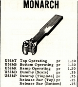 Monarch Price List 1963