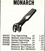 Monarch Price List 1963