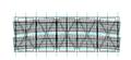 Ties in the truss bridge