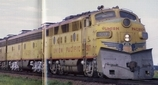 F9 freight unit combined with E9's