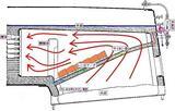 火室・燃焼室・レンガアーチ・サイホン管(断面図)