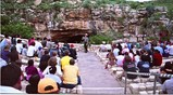 ranger's talk in front of cave