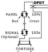 Tortoise and signal lights