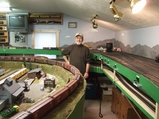 Bob Jarvis and his layout