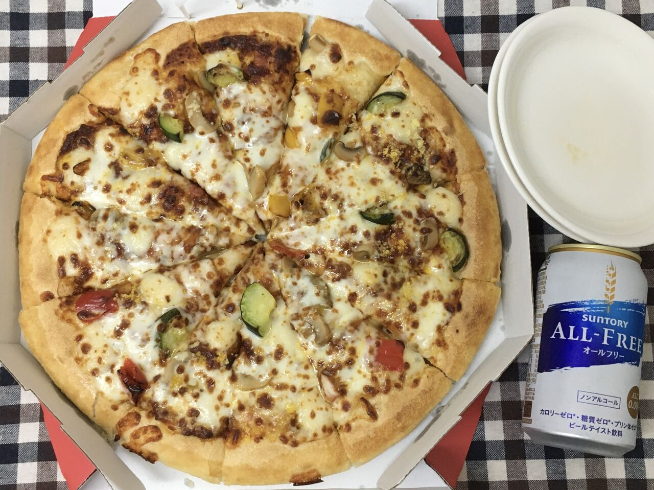 カロリー サイズ ピザ l