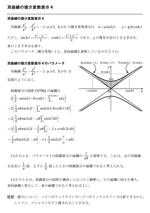 双曲線の媒介変数表示4