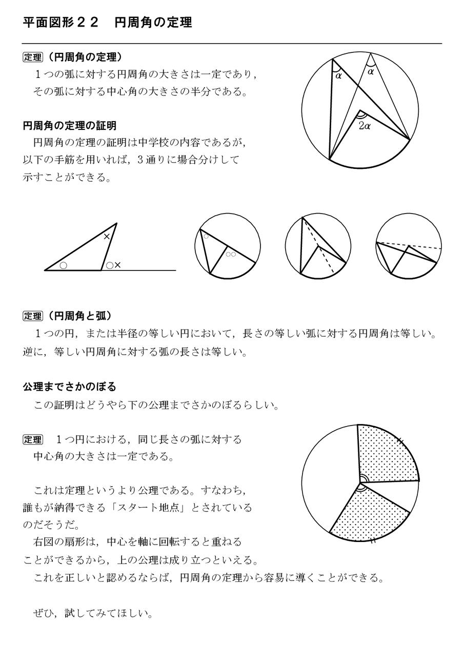 周 角 の 定理 円