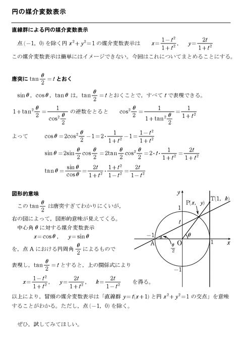 円の媒介変数表示