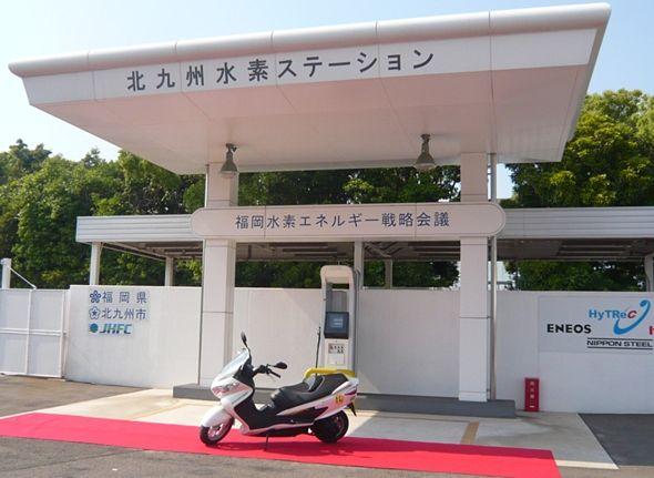 燃料電池スクーター 北九州市が350km走行可能なスズキの車両