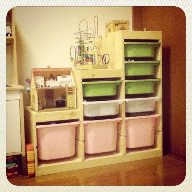 画像 : イケア(IKEA)のおもちゃ収納の定番 TROFAST(トロファスト)のコーデ集(棚 画像 ブログ - NAVER まとめ
