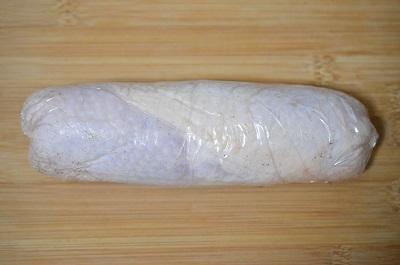 レンジ鶏チャーシュー工程2