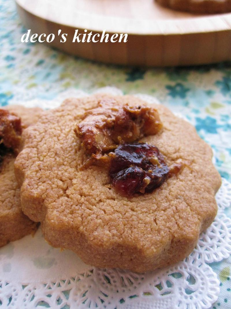 decoの小さな台所。-メイプルナッツタルトクッキー3