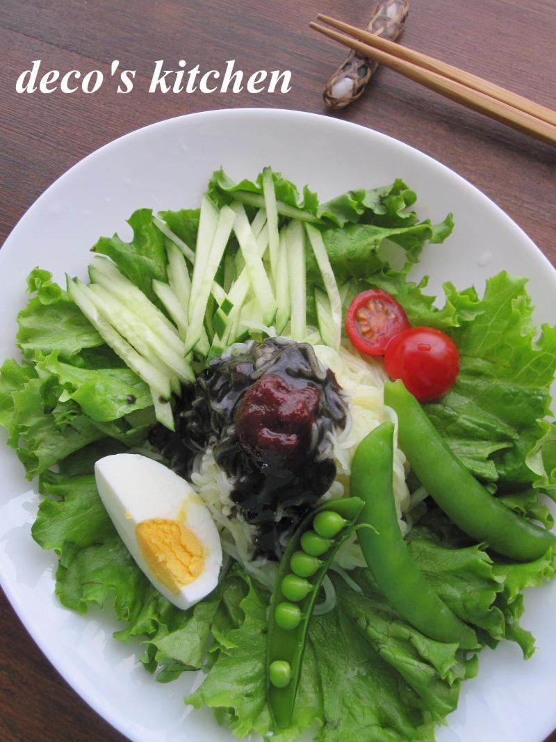 decoの小さな台所。-黒い冷麺2