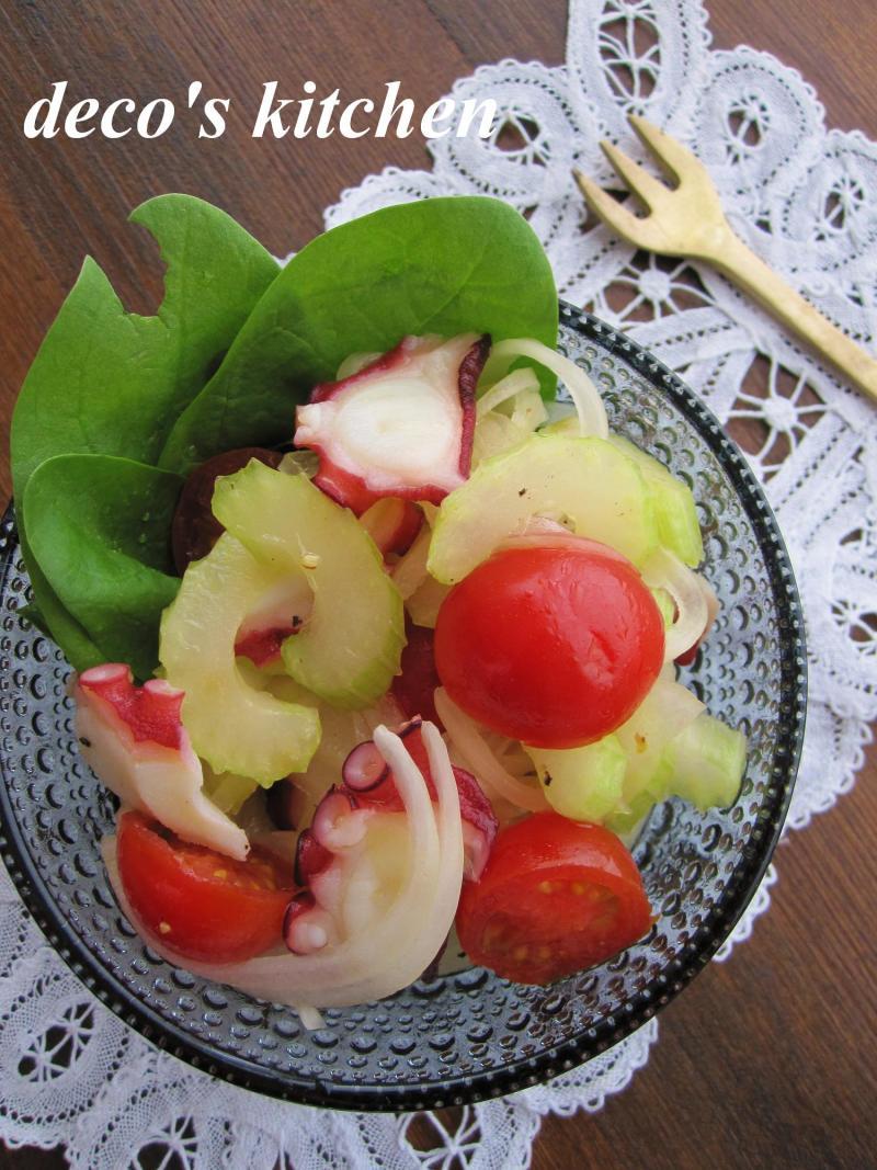 decoの小さな台所。-新玉ねぎとセロリとトマトのマリネ1
