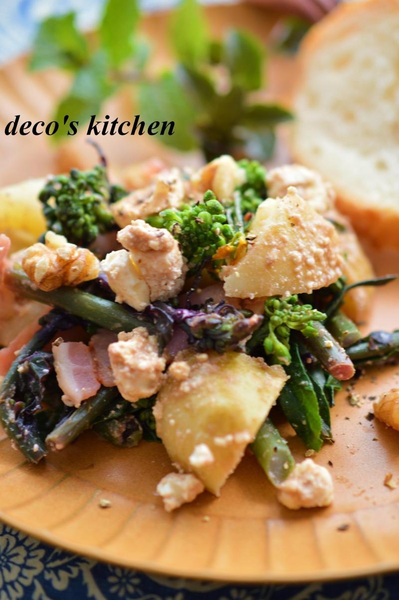 春野菜とベーコンのサラダ5