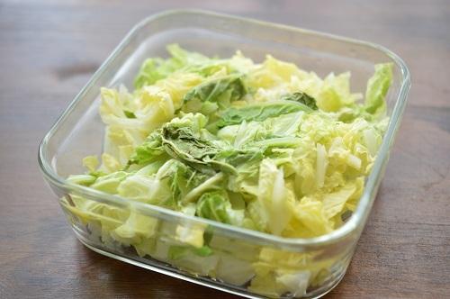 白菜ナムル工程2