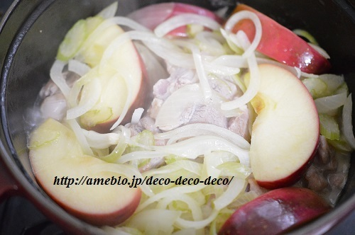 チキンとリンゴの煮込み11