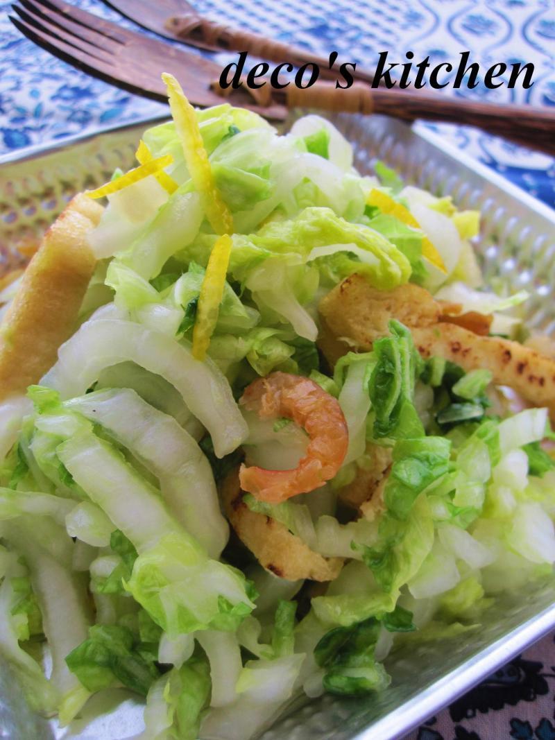 decoの小さな台所。-柚子と白菜と干し海老のサラダ4