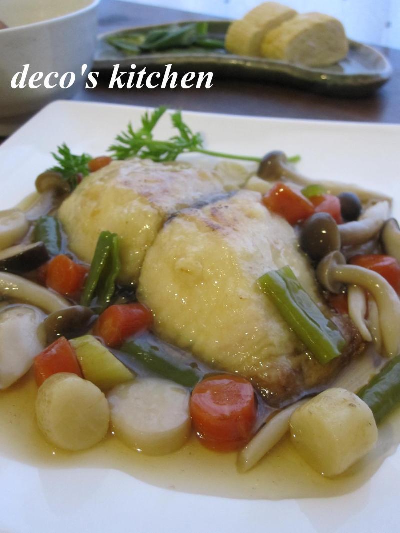 decoの小さな台所。-鰆の京野菜あんかけ1
