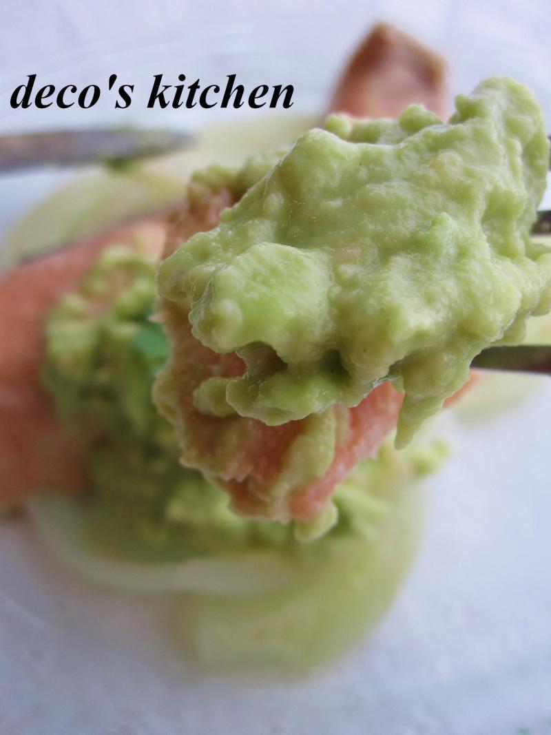 decoの小さな台所。-アボココナッツソース鮭ワイン蒸し5