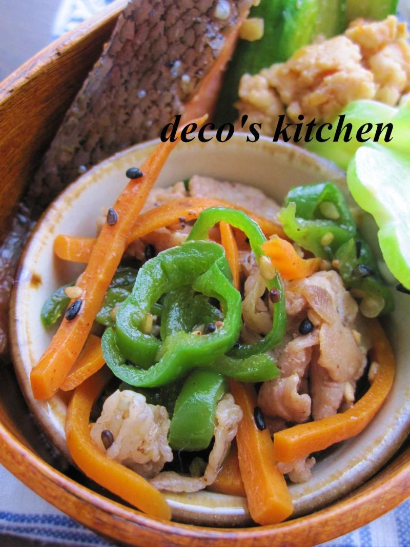 decoの小さな台所。-鶏ひき肉ときゅうりのピリ辛炒め弁当5