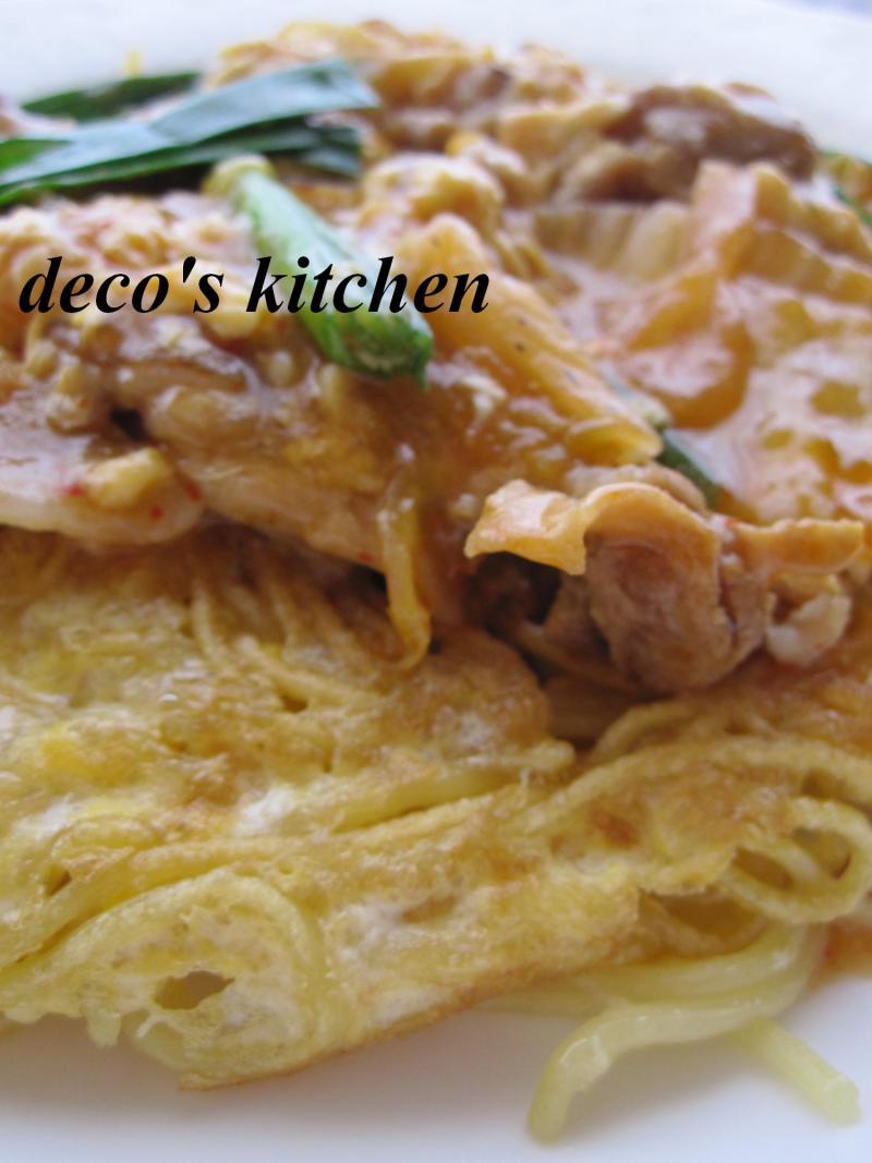 decoの小さな台所。-キムチあんかけかた焼きそば5
