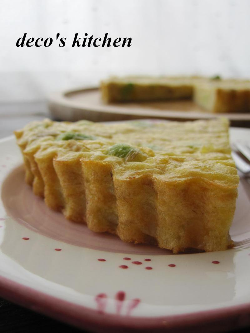 decoの小さな台所。-枝豆とじゃがいもの豆乳キッシュ5