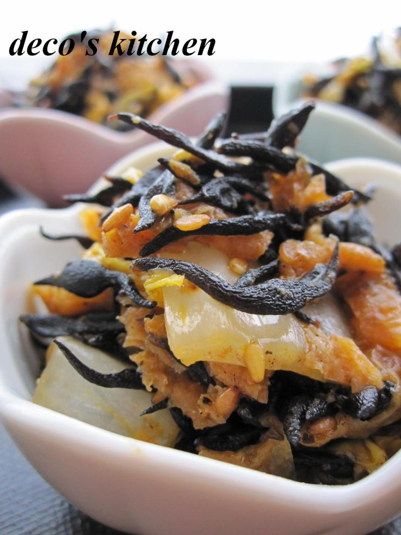decoの小さな台所。-ひじきと白菜の韓国風炒め2