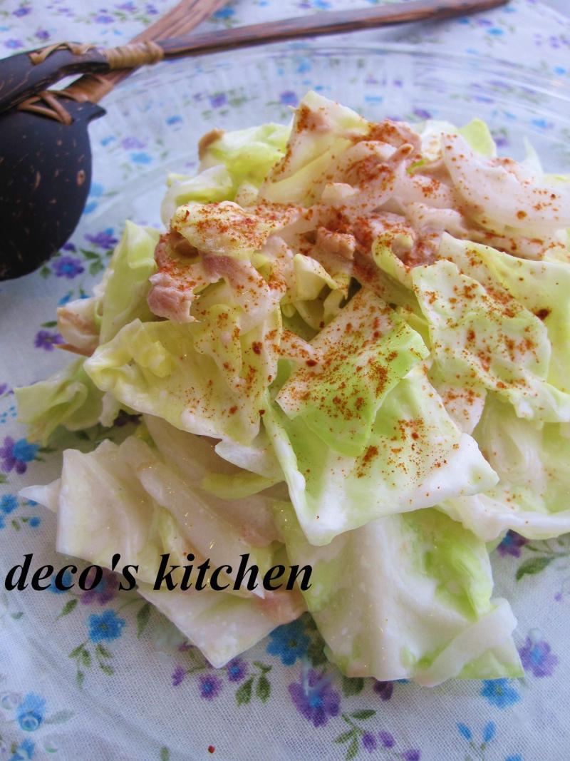 decoの小さな台所。-春キャベツと新たまねぎのサラダ2