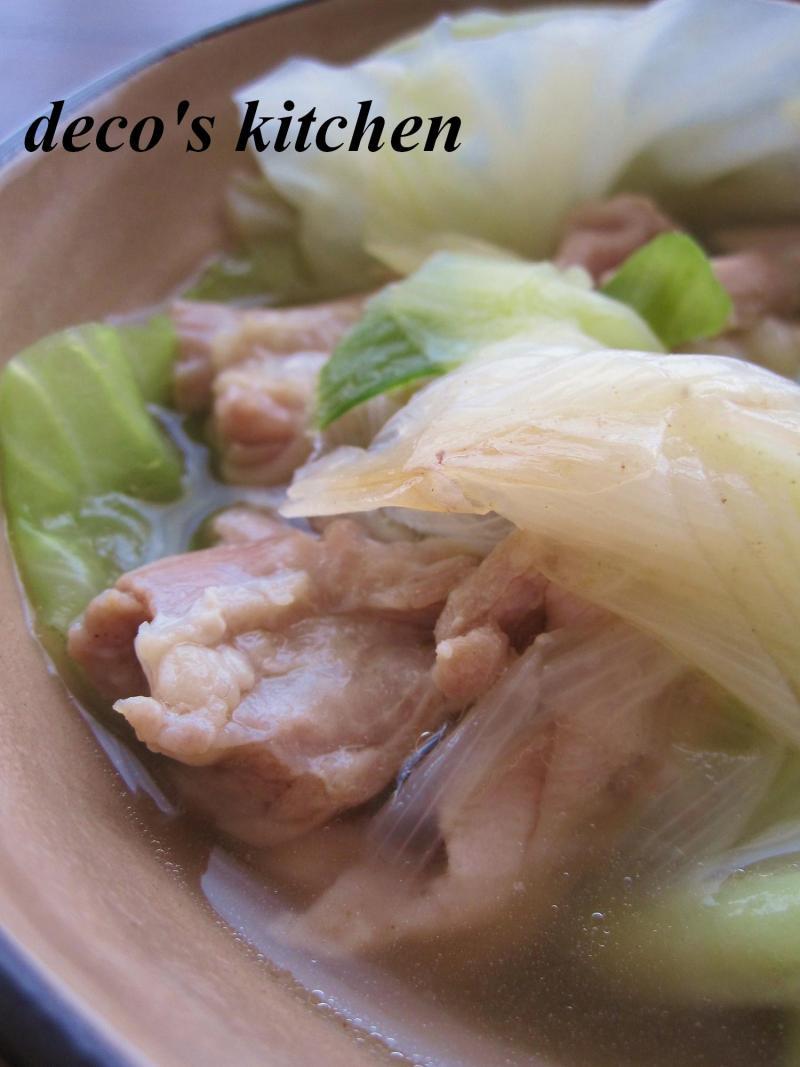 decoの小さな台所。-常春キャベツとせせりの、塩生姜鍋9