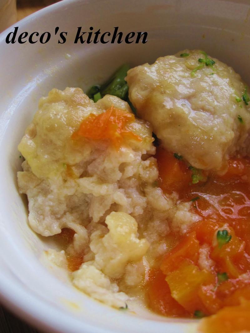 decoの小さな台所。-離乳食★豆腐とひき肉のハンバーグ5