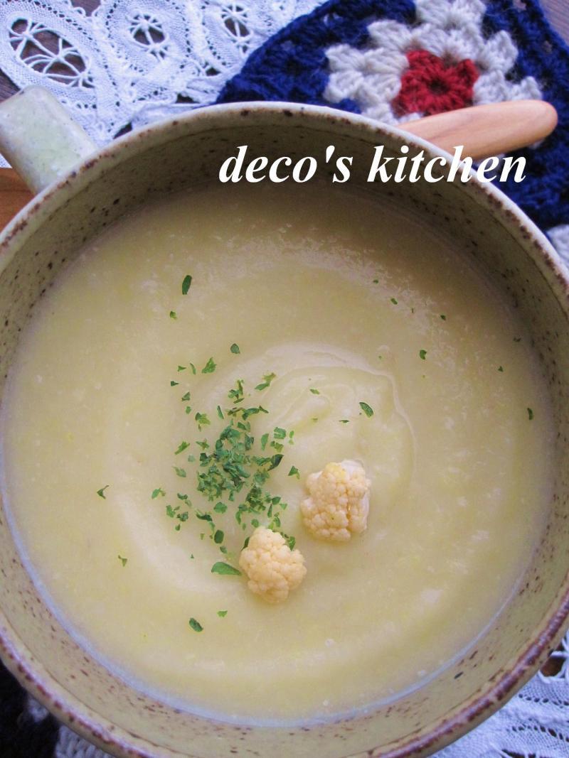 decoの小さな台所。-カリフラワーと里芋のポタージュ5
